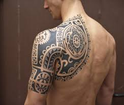 classic black tribal half sleeve tattoo for men tattoo arts