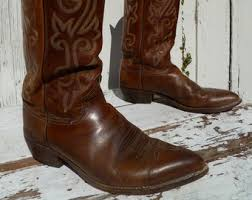 womens vintage cowboy boots size 9 etsy your place to buy and sell all things handmade
