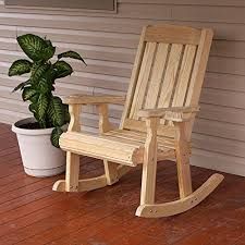 amish heavy duty 600 lb mission pressure treated rocking chair