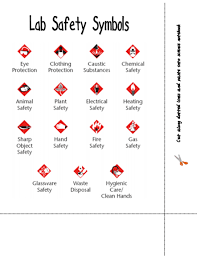 here u0027s a page identifying lab safety symbols science safety