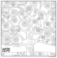 tree of life coloring page life color klimt and art lessons