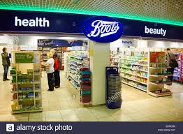 boots uk boots health and shop birmingham airport uk stock photo