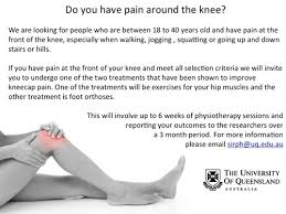 free treatment uq knee pain study axis rehab