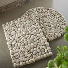 bathroom mat ideas awesome felted wool pebble rugs vivaterra of bath mat ideas and