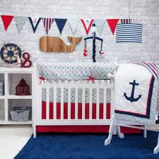 Nautical Baby Crib Bedding Sets Pam Grace Anchors Away 6 Crib Bedding Set Walmart