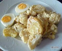 cuisiner le chou fleur recette de recette de légumes choux fleurs pommes de terre sauce