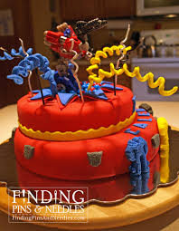 transformers cake toppers finding pins and needles exploding transformers cake