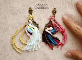 serenity earrings princess serenity and black moon sold out by angeniac on deviantart