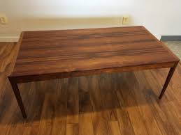 danish rosewood large coffee table 1250 modern to vintage