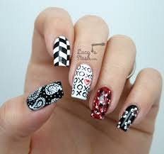 nail art awesomek and white nail art pictures design