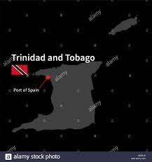 Detailed Map Of Spain by Detailed Map Of Trinidad And Tobago And Capital City Port Of Spain