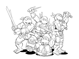 printable teenage mutant ninja turtles coloring pages teenage