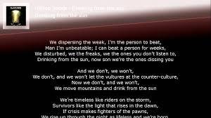 hilltop hoods from the sun lyrics