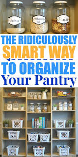 Organizing Kitchen Pantry Ideas Best 25 Organize Food Pantry Ideas On Pinterest Kitchen