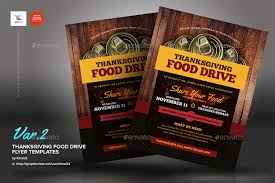 thanksgiving food drive flyer templates by kinzi21 graphicriver