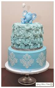 elephant baby shower cake cake by spring bloom cakes cakesdecor