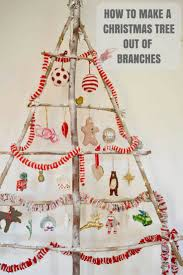 stylish branch diy christmas tree pillar box blue