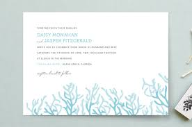 wedding invitations miami simple coral wedding invitations by simplete design minted
