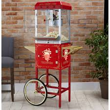 simply popp u0027n 10 oz commercial popcorn cart with non stick kettle