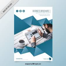 brochure templates for business free download business brochure template with origami ribbon vector free download