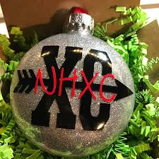 personalized cross country ornament live to run running