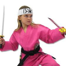 Kung Fu Halloween Costume Deluxe Pink Karate Costume Female Karate Halloween Costume