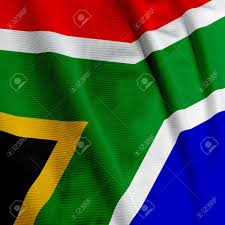 Afican Flag Close Up Of The South African Flag Square Image Stock Photo