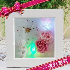 flower k rakuten global market preserved angel glow clock s