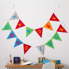 Safety Pennant Flags Kids Decor Boy Pennant Garland The Land Of Nod