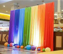 discount decorations silk rainbow wedding backdrop colourful wedding background