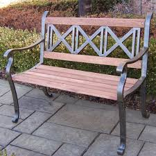 Best Material For Patio Furniture - wrought iron and wood garden bench fabulous full size of patio