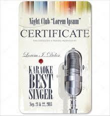 Prize Certificate Template First Award Certificate Karaoke Template Stock Vector