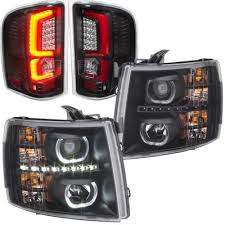 2007 chevy silverado tail lights chevy silverado 2007 2013 black halo drl projector headlights red