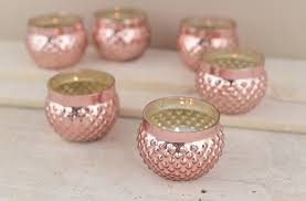 Accessorize Your End Table With Silver Vases And Votives by 12 Rose Blush Mercury Glass Votive Holder Rose Gold 2in Candle