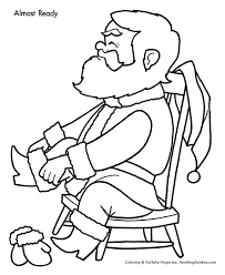 christmas eve coloring pages santa dressed christmas