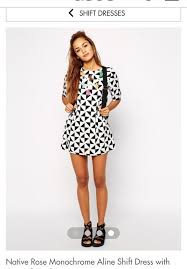 dress monochrome black and white short dress shift dress day
