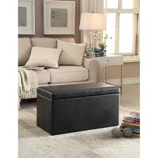 walmart storage ottoman black friday better homes and gardens 30 faux leather hinged storage ottoman