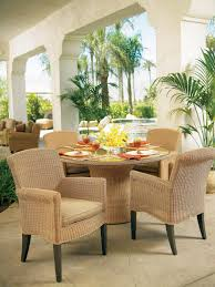 Wicker Patio Furniture Cushions - exterior black cape may wicker with cushions and side table on
