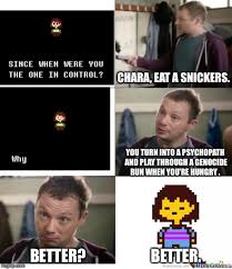 Eat A Snickers Meme - old chara eat a snickers by stellarpixel64 on deviantart