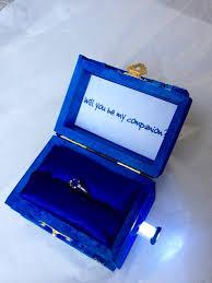 doctor who engagement ring tardis wedding ring box with led light handmade tardis engagement