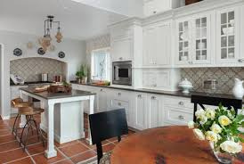 white kitchen no windows tile backsplash kitchen white cabinets