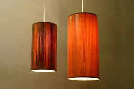 Wood Veneer Pendant Light La Large Dash La Dash Pendant Light