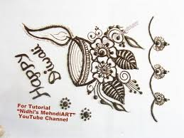 mehndi card diwali festival special mehndi henna design inspired greeting card