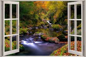 100 enchanted forest wall mural fotomural 400x280 cm 3 tres enchanted forest wall mural 3d window view waterfall wall huge 3d window view waterfall wall