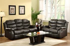homelegance smithee reclining sofa set black bonded leather