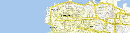 Beirut On Map Download Map Beirut