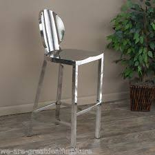 stainless steel bar stools with backs stainless steel bar stools ebay
