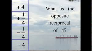 what is the opposite reciprocal of 4 four one fourth negative
