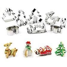 amazon com 3d christmas cookie cutters set stainless steel food