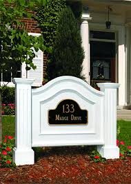 light post with address sign mailbox post yard signage l post vinyl solid fencing
